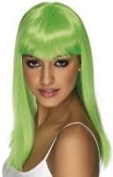 Neon Grüne Party Perücke Für Damen