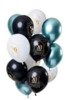 50 Geburtstag 12 Latexballons mehrfarbig