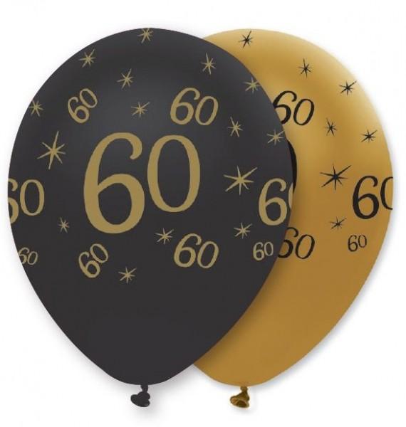 6 Magical 60th Birthday balloons 30cm
