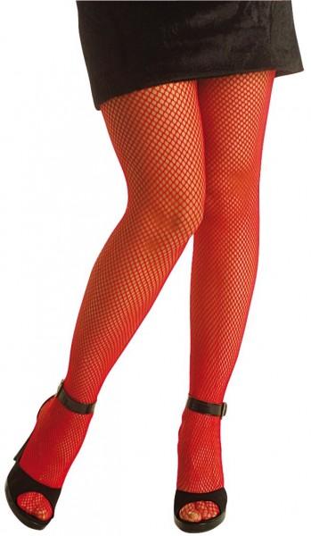 Halloween Netzstrumpfhose Verführerisch Fein Rot