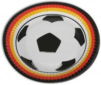 6 Deutschland Fan Pappteller