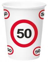 8 Verkehrsschild 50 Pappbecher 350ml