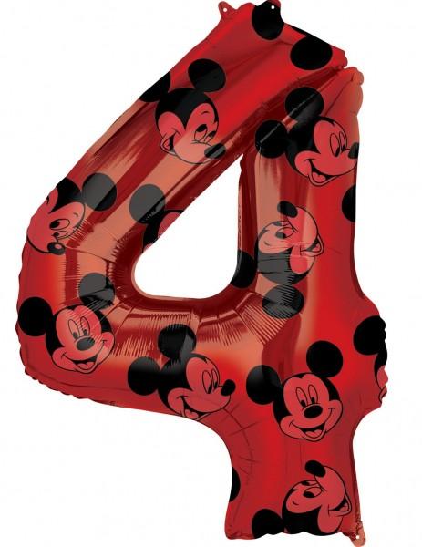 Mickey Mouse Zahl 4 Ballon 66cm