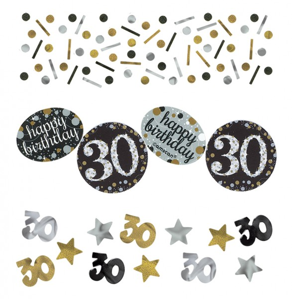 Golden 30th Birthday sprinkle decoration 34g