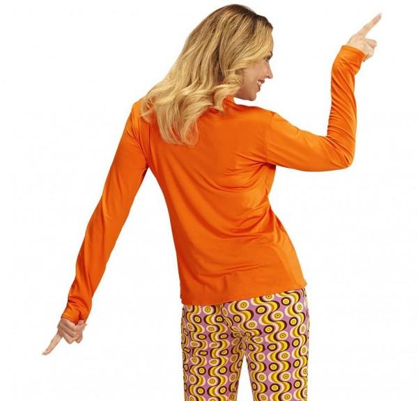 70er Jahre Schlagermove Bluse orange