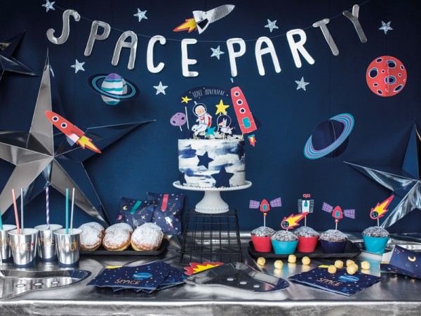 20 Weltall Party Space Servietten 33cm 6