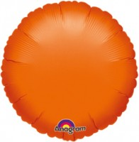 Runder Folienballon orange 45cm