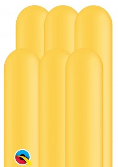 100 palloncini modellabili 260Q giallo oro 1,5 m