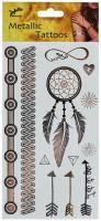 Metallische Indianer Tattoos