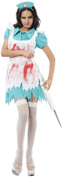 Blutige Horror Krankenschwester Kostüm