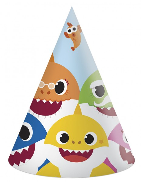 6 Baby Shark Fun in the Sun party hats