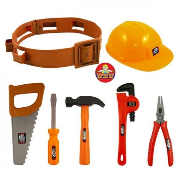 Werkzeug-Gürtel-Set für Kinder 7 teilig