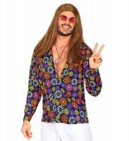 Hippie Flower Power Hemd für Herren