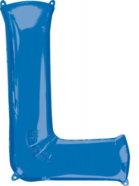Foil balloon letter L blue XL 81cm