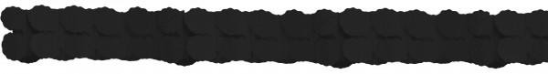 Elégante guirlande en papier noir 3.65m