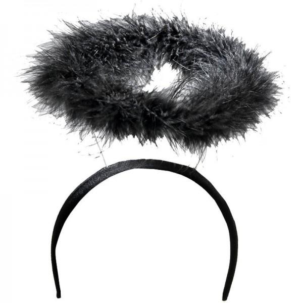 Schwarzer Heiligenschein Haarreif