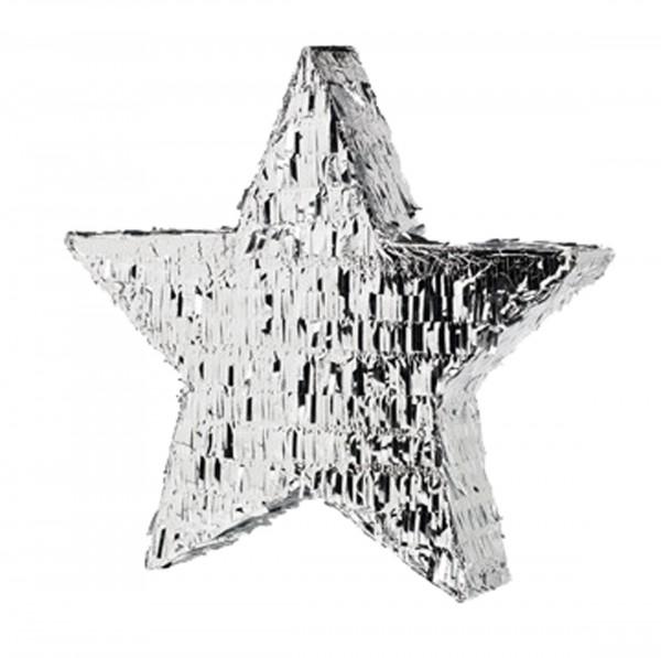 Silver Star Pinata Deluxe 48cm