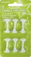 Hübsche Halterung Für Tortenkerzen Mit Blütenrand 12 Stück
