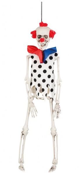 Horror Clown Skelett Hängedekoration 40cm