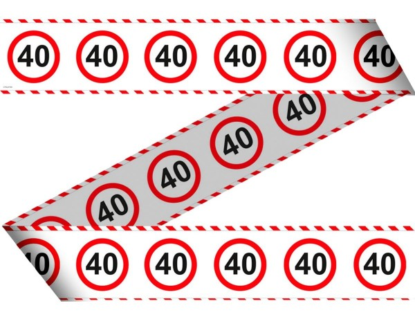 Traffic sign 40 barrier tape 15m