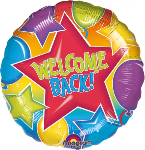 Round foil welcome back balloon