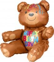 Folienballon Geburtstagsbär Figur