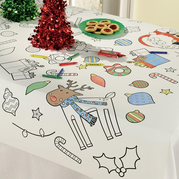 Mantel para pintar mundo navideño 1,2mx 91cm