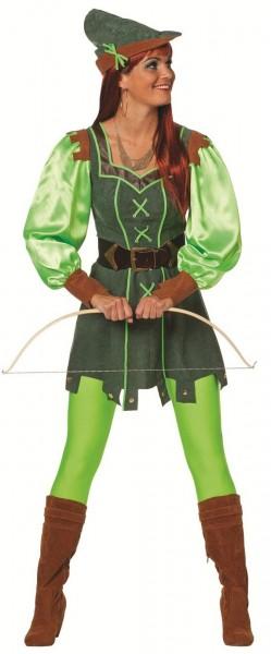 Grünes Waldläufer Damenkostüm