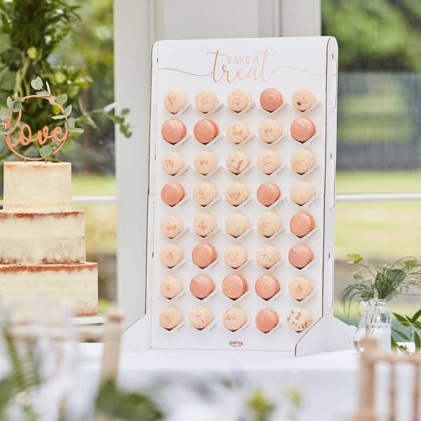Soporte para macaron de boda floral 60cm