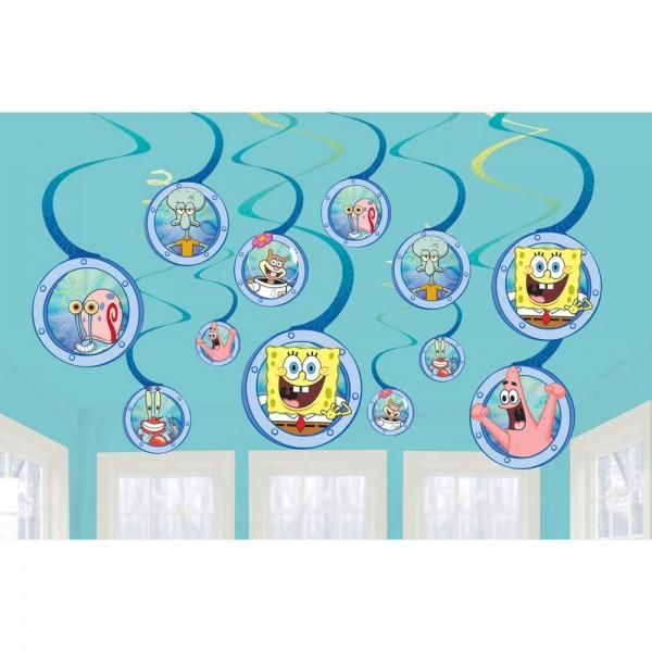 12 Spongebob Spiral-Hänger