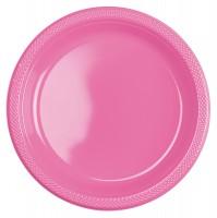 10 Kunststoff Teller Mila rosa 22,8cm