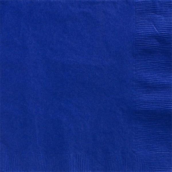 50 Servietten königsblau 2-lagig 40cm