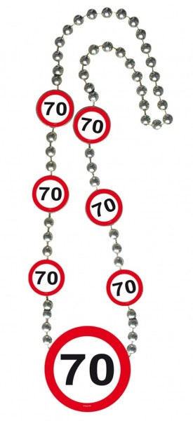 Road sign 70 necklace