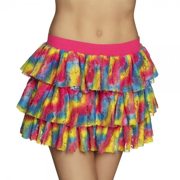Blonder nederdel i farve splash