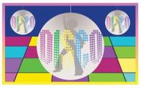 Partyflagge Disco Bunt 150 x 90cm