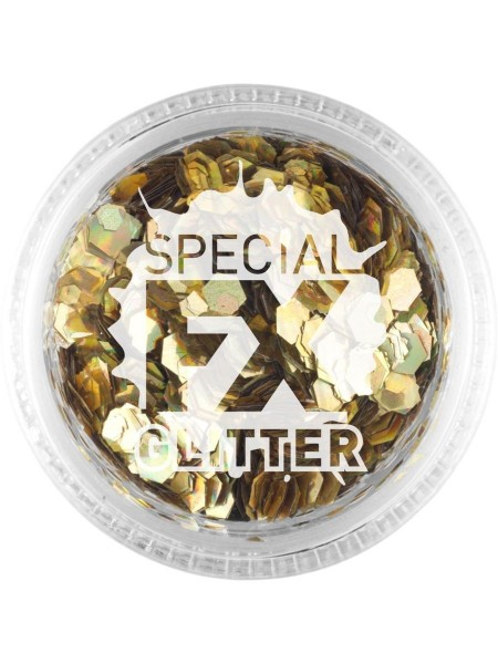 FX Special Glitter Hexagon dorado 2g