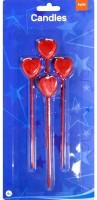 4 Herz Tortenkerzen Ewige Liebe