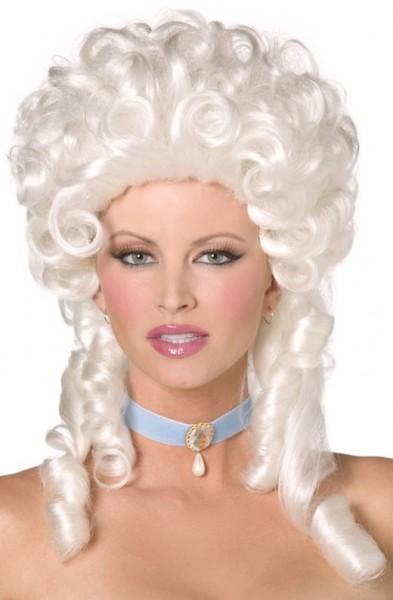 Weiße Antoinette Perücke