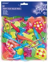 Buntes Partyspaß Spielset Für Kindergeburtstag 48-Teilig
