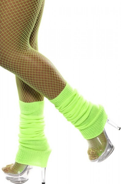 Neonowo-zielone getry retro