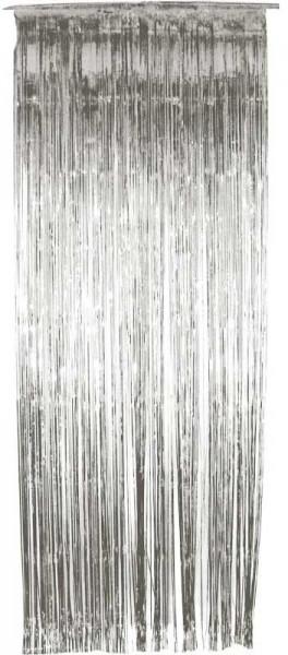Schimmernder Vorhang in Silber 91cm x 2,44m