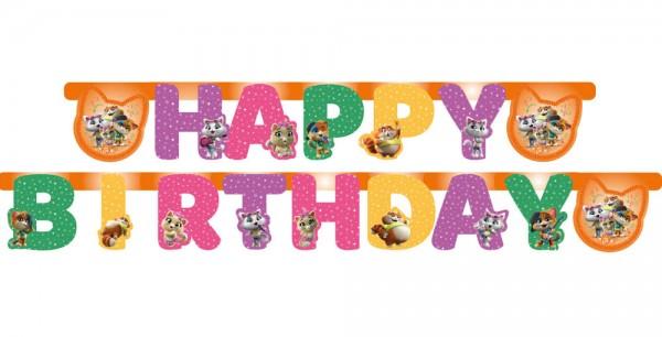Geburtstags-Girlande 44 Cats