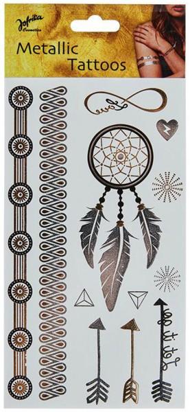 Metallic Indian tattoos