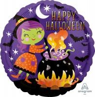 Folienballon Kleine Halloween-Hexe