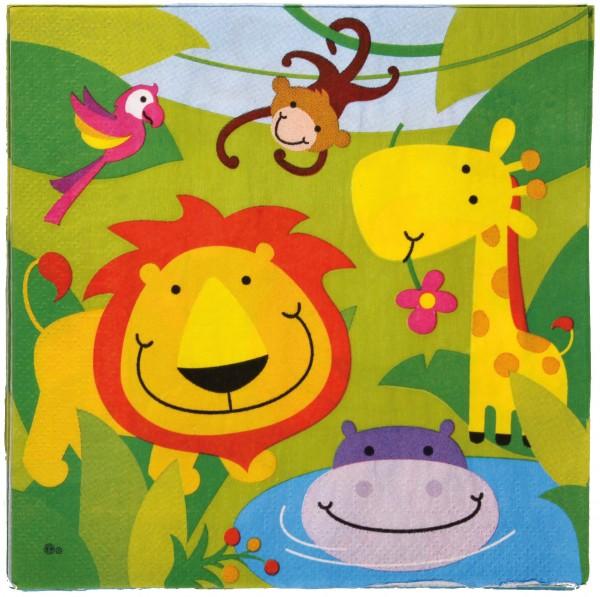 20 Happy Jungle servetten