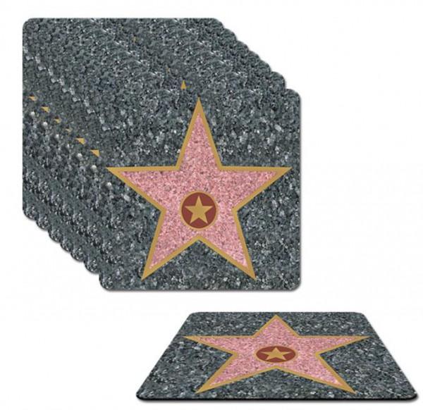 8 dessous de verre Walk of Fame 9cm