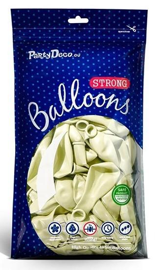 50 Partystar metallic Ballons creme 27cm