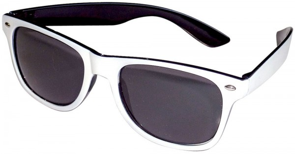 Große Retro Sonnenbrille Schwarz-Weiß