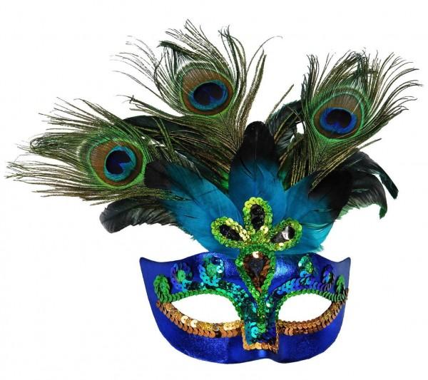 Imponente maschera di pavone Elvira