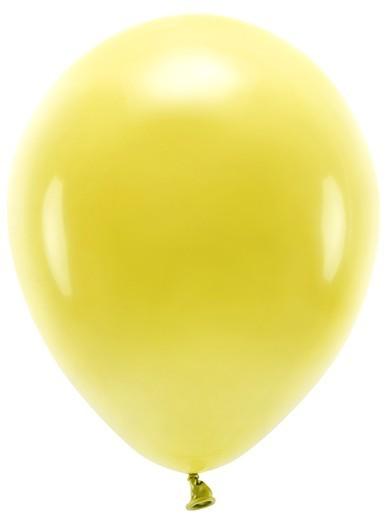 100 eco pastel balloons sun yellow 26cm